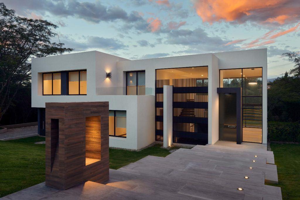 modernes Haus Komplettansicht