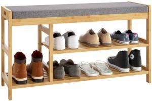 Schuhregal mit Sitzbank für mehr Bequemlichkeit