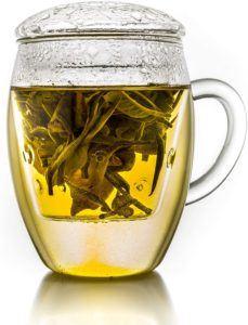 Material von Teetasse mit Sieb im Vergleich
