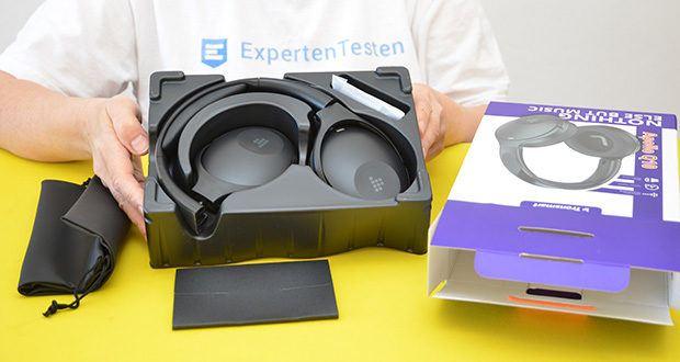 Bluetooth Kopfhörer Tronsmart Apollo Q10 im Test - verfügt über 5 Mikrofone, die zusammen mit der Hybrid-Technologie zur aktiven Geräuschunterdrückung einen kristallklaren Anruf tätigen
