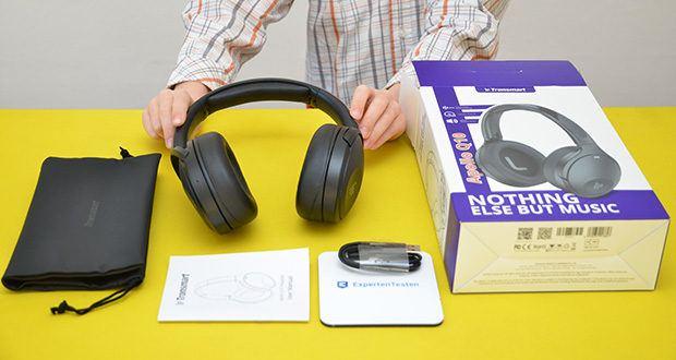 Bluetooth Kopfhörer Tronsmart Apollo Q10 im Test - Lieferumfang: 1 x Tronsmart Apollo Q10 , 1 x Benutzerhandbuch , 1 x Ladekabel , 1 x Garantiekarte , 1 x PU Aufbewahrungstasche