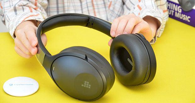 Bluetooth Kopfhörer Tronsmart Apollo Q10 im Test - das Mikrofon mit doppelter Rauscherkennung kann 95% der Umgebungsgeräusche aufnehmen und filtern, um sicherzustellen, dass Ihre Musik nicht gestört wird