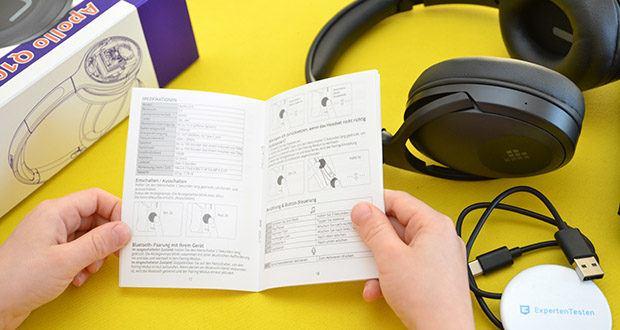 Bluetooth Kopfhörer Tronsmart Apollo Q10 im Test - Lautsprechereinheit: 40 mm dynamisch; Batteriekapazität: 1200mAh; Impedanz: 32 Ohms; Sensitivität: 100 dB; Frequenzgang: 20Hz-20KHz