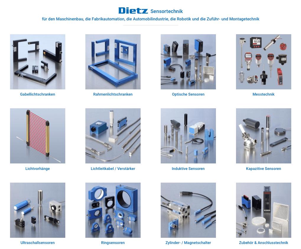 Dietz Sensortechnik Website