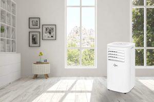 Ein Aircooler erzeugt durch seine Verdunstungs-Technologie ein feuchtes Klima. Um Schimmel im Raum vorzubeugen, sollte regelmäßig gelüftet werden.