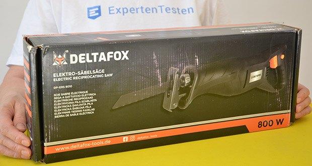 Deltafox Elektro Säbelsäge DP-ERS 8010 im Test - für Holz, Metall, Stein, Eisenrohre oder Kunststoff
