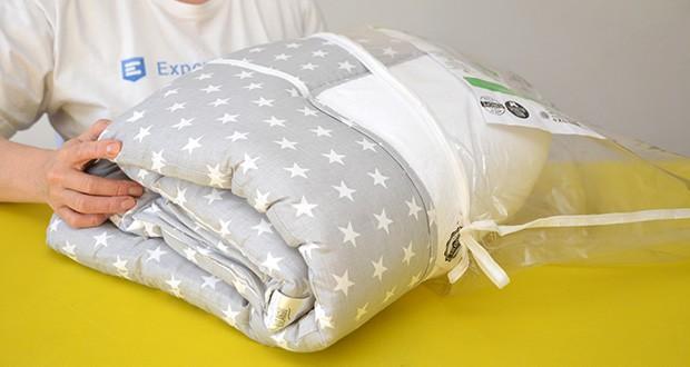 LULANDO Wickelauflage im Test - dank der praktischen Verpackung lässt sich die Lulando Wickelauflage leicht verstauen oder transportieren