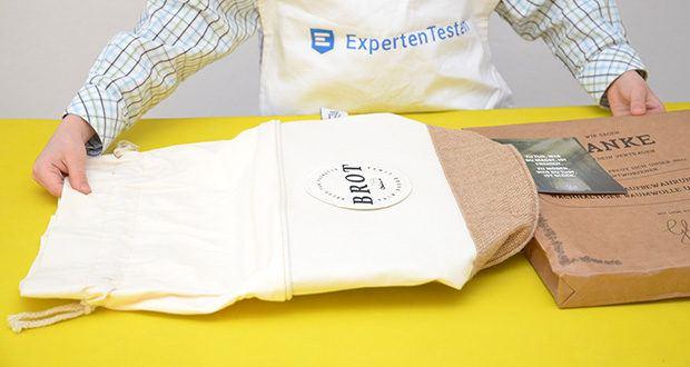 Glueckstoff Aufbewahrungsbox Brot Korb im Test - hochwertige & umweltfreundliche Stoffe, die von einem externen Prüflabor auf Herz und Nieren geprüft wurden