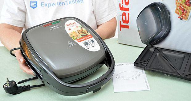 Tefal Snack Time SW341B Waffeleisen & Sandwichtoaster im Test - Betriebs- und Temperaturkontrollleuchte