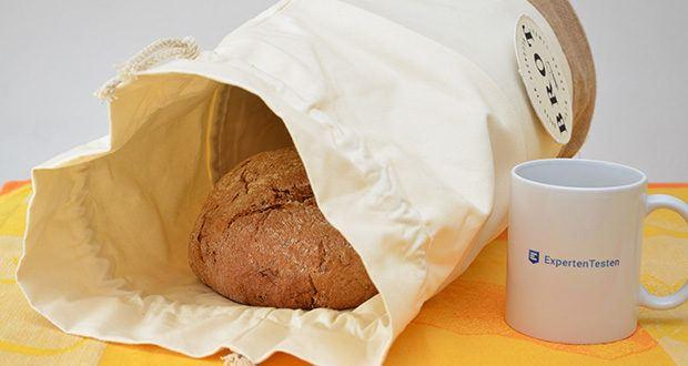 Glueckstoff Aufbewahrungsbox Brot Korb im Test - vorallem Brot kannst du länger frischhalten, da der Stoff sowohl luftdurchlässig ist, als auch Feuchtigkeit speichert - So kann die Luft zirkulieren