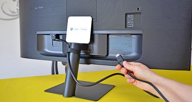 Samsung M5 Smart Monitor 32 Zoll im Test - produktive Konnektivität durch mehrere USB-Anschlüsse zum Verbinden Ihrer Geräte und Anschluss über Bluetooth