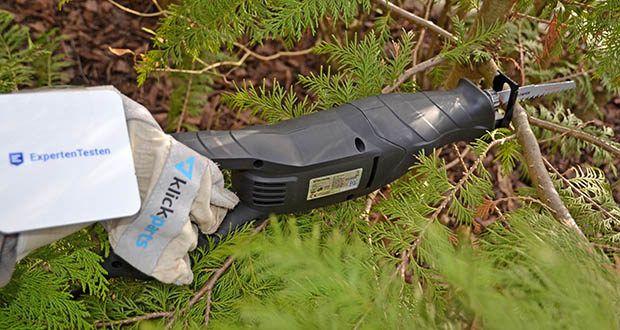 Deltafox Elektro Säbelsäge DP-ERS 8010 im Test - der ausziehbare Sägeschuh begrenzt die Schnitttiefe und minimiert Vibrationen
