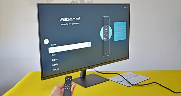 Samsung M5 Smart Monitor 32 Zoll im Test - nutzen Sie mobile Produktivitätsanwendungen wie Videokonferenzen, Dokumente und Browser nur über Ihren Bildschirm und Ihr Handy