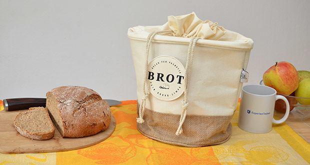 Glueckstoff Aufbewahrungsbox Brot Korb im Test - hält Brot 24% länger frisch als bei Lagerung in herkömmlichen Brotkästen