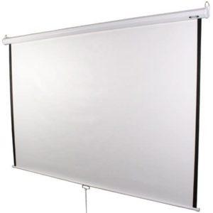 Eine fest installierte Rahmenleinwand eignet sich auch gut für Veranstaltungsräume oder Konferenzräume.