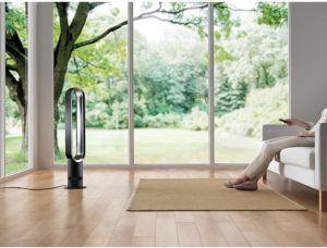 Bei hohen Temperaturen können Räume sehr warm und stickig werden. Dyson Ventilatoren können hier helfen.