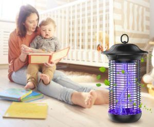 Elektrische Insektenvernichter können nur im inneren Bereich benutzt werden.