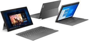 Das Convertible kann als Tablet und als Laptop genutzt werden. Je nach Verwendung knickt man es in die gewünschte Position.