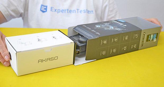 AKASO Brave 7 Action Cam im Test - ermöglicht die drahtlose Foto- / Video-Freigabe über die AKASO GO App