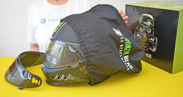 Broken Head Motorradhelm Gasman im Test - entspricht der aktuellen Motorradhelm-Norm ECE 22-05 für Deutschland und Europa