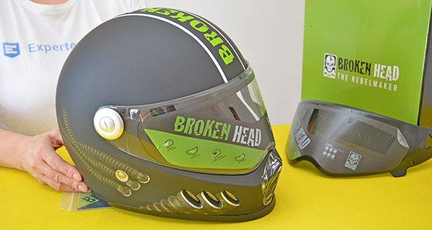 Broken Head Motorradhelm Gasman im Test - Oberfläche: matt, Farbe: schwarz