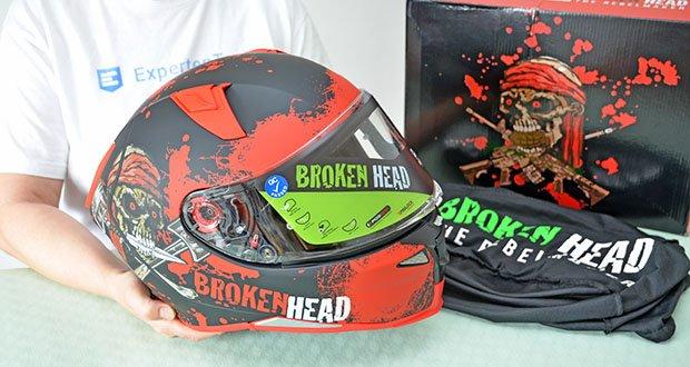 Broken Head Jack S. V2 Pro Motorradhelm im Test - Oberfläche: matt; Farbe: rot