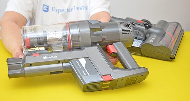 Proscenic P11 Akku Staubsauger im Test - verfügt über 3 Arbeitsmodi, im automatischen Modus wird die Saugleistung nach verschiedenem Umstand verändert, und Sie können nach Ihrer Meinung den energieeffizienten Modus oder Max-Modus auswählen
