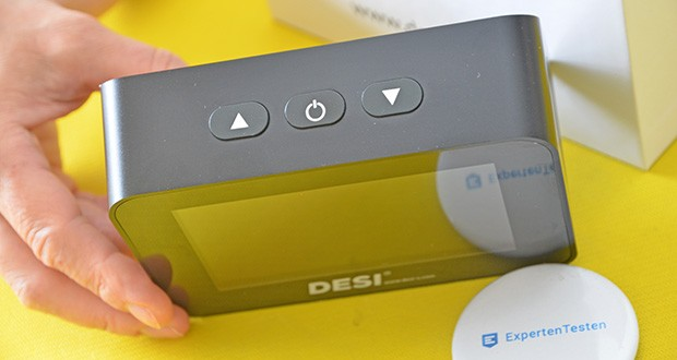 DESI-System DESI Monitor Luftquailitätsmonitor im Test - es kann zwischen drei Darstellungsarten gewählt werden