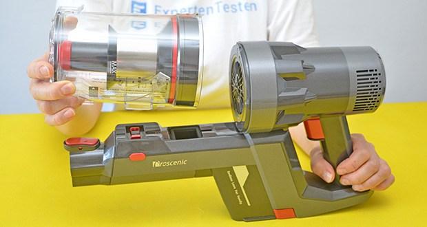Proscenic P11 Akku Staubsauger im Test - mehrstufiges Filtersystem
