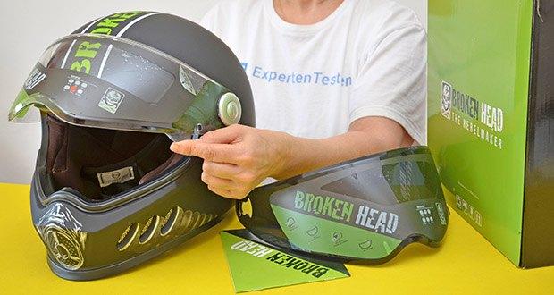 Broken Head Motorradhelm Gasman im Test - Außenmaterial: Polykarbonat