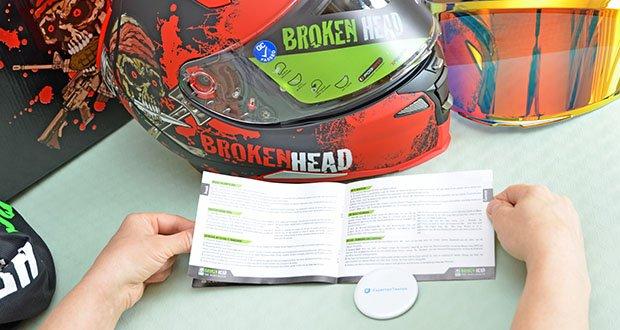 Broken Head Jack S. V2 Pro Motorradhelm im Test - durch die Visierverriegelung bleibt das Visier immer unten. Sogar bei schnellen Fahrten