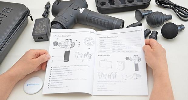 Opove M3 Pro Massagepistole im Test - schaltet sich nach 10 Minuten Gebrauch automatisch ab, um Sie vor Schaden zu schützen