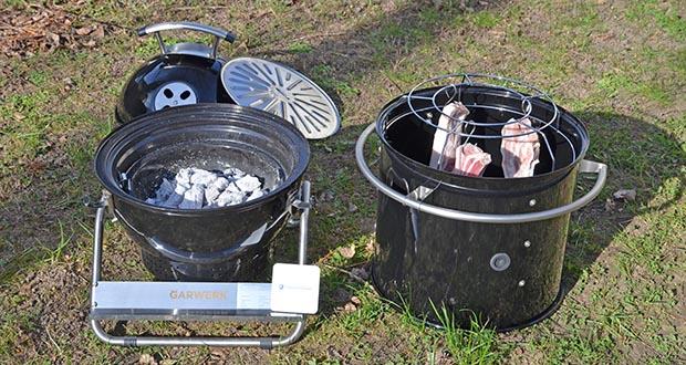 GARWERK Smokey Sam Junior im Test - 2,7 kg rauchende Holzkohle halten beim Räuchern zwischen 80°C - 120°C länger als 20 Stunden