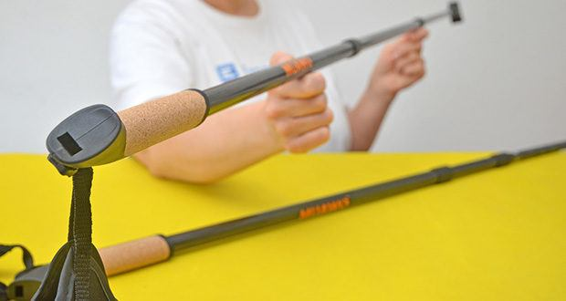 Muawo Nordic Walking Stöcke im Test - höhenverstellbare Stöcke mit Schraubsystem, zwischen 65-135cm