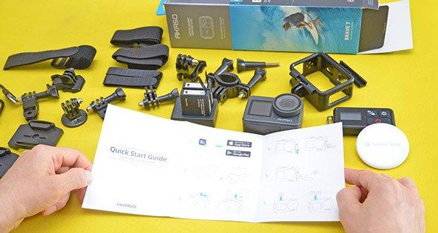AKASO Brave 7 Action Cam im Test - vollständige professionelle Funktionen: Zeitlupenvideo / Zeitraffervideo / Verzerrungskalibrierung /Burst-Foto / Zeitrafferfoto / Zeitraffervideo / Windrauschreduzierung / Auto Low Light / Langzeitbelichtung / Weißabgleich / Loop-Aufnahme / Fahrmodus / Upside Down usw.