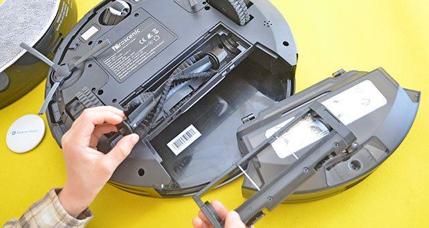 Proscenic 850T Saugroboter mit Wischfunktion im Test - starke Saugkraft von 3000 Pa kann den ganzen Staub, die Haare und den Müll leicht absaugen