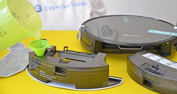 Proscenic 850T Saugroboter mit Wischfunktion im Test - mit 500ml Staubbehälter und 300ml elektrischen Wassertank können der Saugroboter sowohl saugen als auch wischen