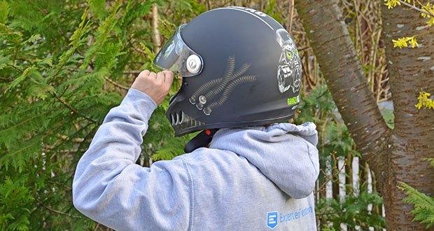 Broken Head Motorradhelm Gasman im Test - um besten Schutz zu gewährleisten, muss die Größe des Helmes korrekt sein