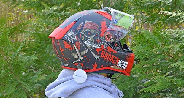 Broken Head Jack S. V2 Pro Motorradhelm im Test - das innovative Belüftungssystem katapultiert sofort die alte, verbrauchte Luft nach draußen