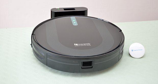 Proscenic 850T Saugroboter mit Wischfunktion im Test - wenn die Reinigung fertig ist oder beim schwachen Batteriestand fährt der Roboter automatisch zur Ladestation zurück und beginnt aufzuladen