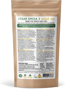Algenöl gibt es in Kapsel- oder direkt in Tropfenform, welches zur besseren Lagerung und Haltbarkeit in braunen Fläschen abgefüllt wird.