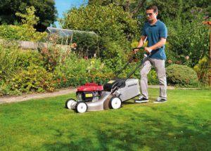 Bei der Auswahl eines Rasenmähers sollten Sie unter anderem das Volumen des Auffangbehälters beachten.