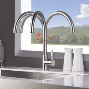 Neben den optischen Ansprüchen sollten Küchenarmaturen auch praktischen Kriterien standhalten.