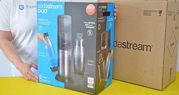 SodaStream Wassersprudler DUO im Test - mit dem revolutionären Quick-Connect CO2-Zylindersystem ausgestattet, welches einen kinderleichten Wechsel der CO2-Kartusche ermöglicht