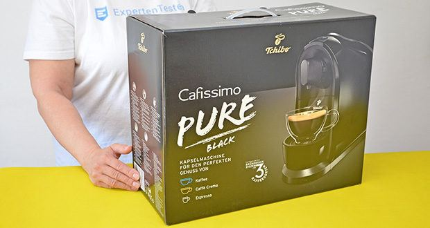 Tchibo Kapselmaschine Cafissimo Pure im Test - Maße (B x T x H): 15,4 x 36 x 27,2 cm; Gewicht: 3,8 kg
