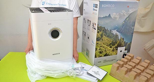 BONECO Hybrid Luftbefeuchter & Luftreiniger H300 im Test - Abmessungen: 280 x 280 x 465 mm; Leergewicht: 5.5 kg