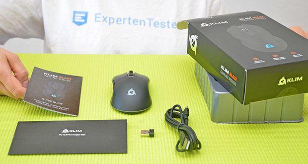 KLIM Blaze kabellose RGB Gaming Maus im Test - mit eingebautem Akku mit langer Lebensdauer