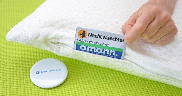 Nachtwaechter Nacken Komfort Kissen NEA im Test - kann für besseren Schlaf, d.h. längere Tiefschlafphasen sorgen