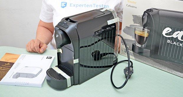 Tchibo Kapselmaschine Cafissimo Easy im Test - platzsparendes Design, die Maschine ist nur 12 cm breit