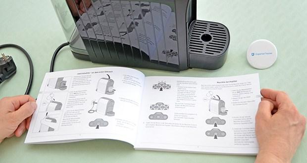 Tchibo Kapselmaschine Cafissimo Easy im Test - Trester/Sieb, Abtropfgitter & Abtropfschale sind spülmaschinengeeignet